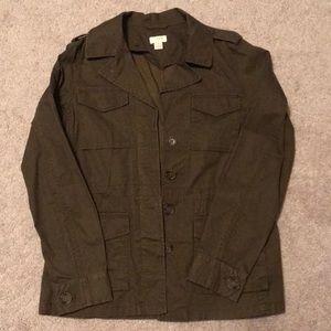 J Crew Olive Utility Jacket